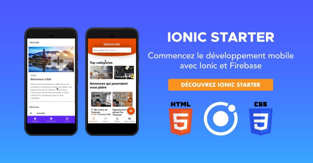 Commencez le développement mobile avec Ionic et Firebase