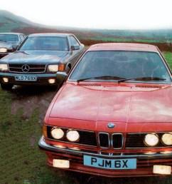 1983 bmw 635csi e24 vs jaguar xjs he and mercedes benz 500sec c126  [ 1280 x 1034 Pixel ]