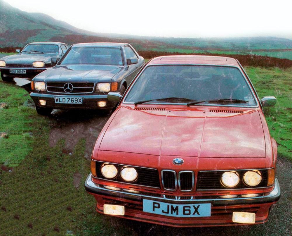 medium resolution of 1983 bmw 635csi e24 vs jaguar xjs he and mercedes benz 500sec c126