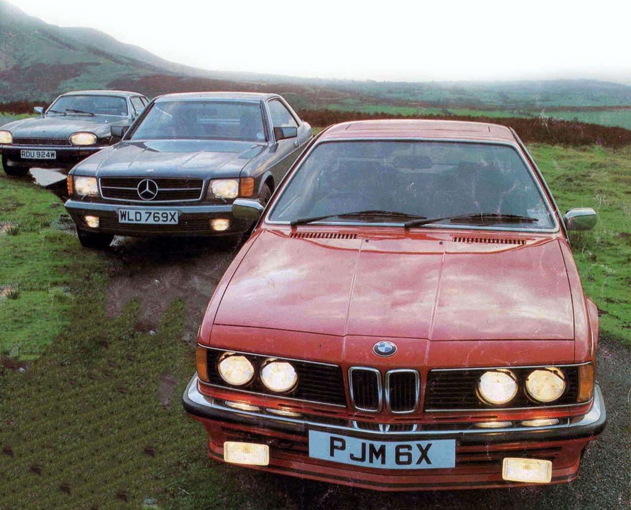 hight resolution of 1983 bmw 635csi e24 vs jaguar xjs he and mercedes benz 500sec c126