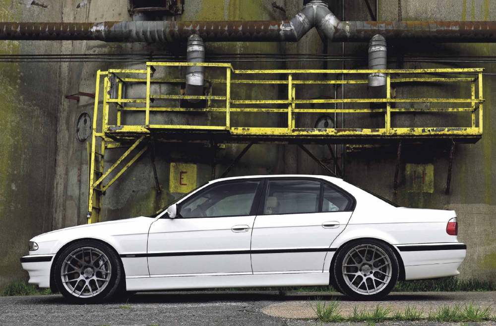 medium resolution of bmw 7 series e38 still looks great especially lowered on h r springs smaller 92mm pulley gives more boost maxflow race blow off valve