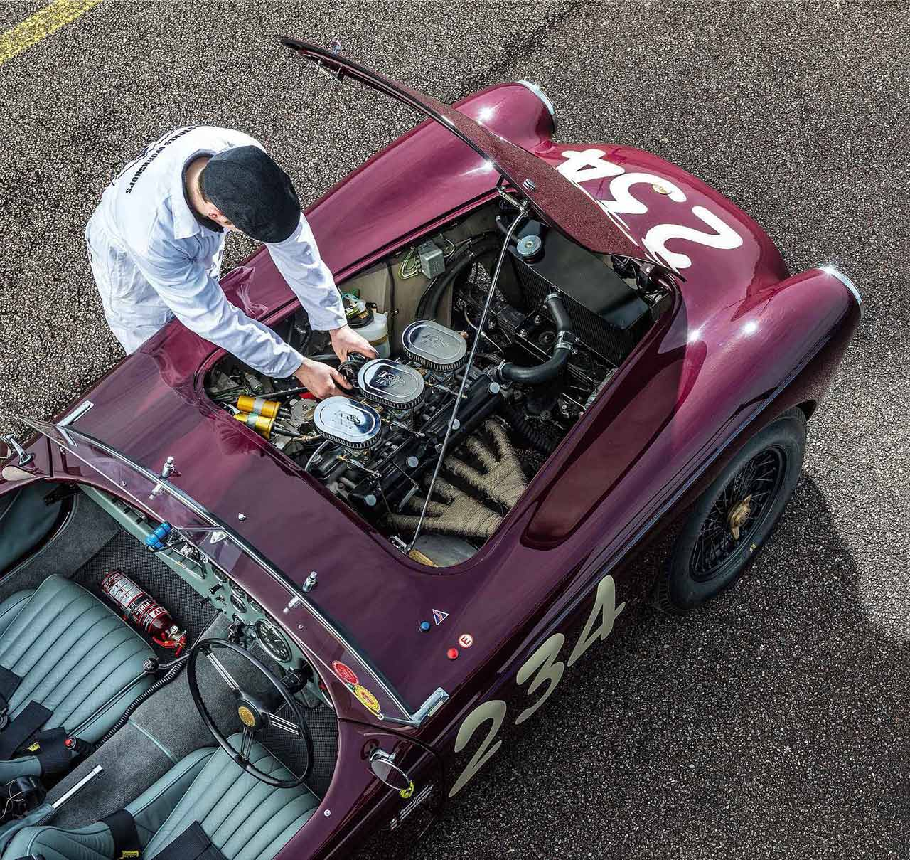 hight resolution of 1955 ac ace testing the newly restored ex mille miglia car