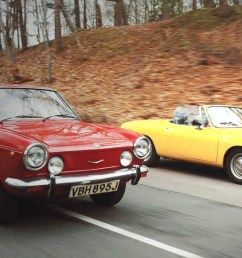 omparison test drive fiat 850 spider and coupe entry level sportscars from the 1970s [ 1380 x 754 Pixel ]