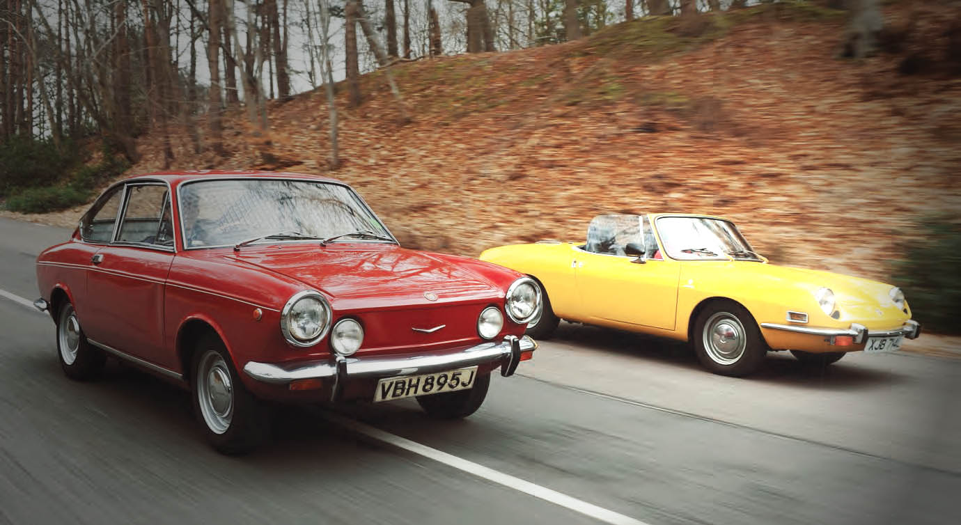 hight resolution of  omparison test drive fiat 850 spider and coupe entry level sportscars from the 1970s