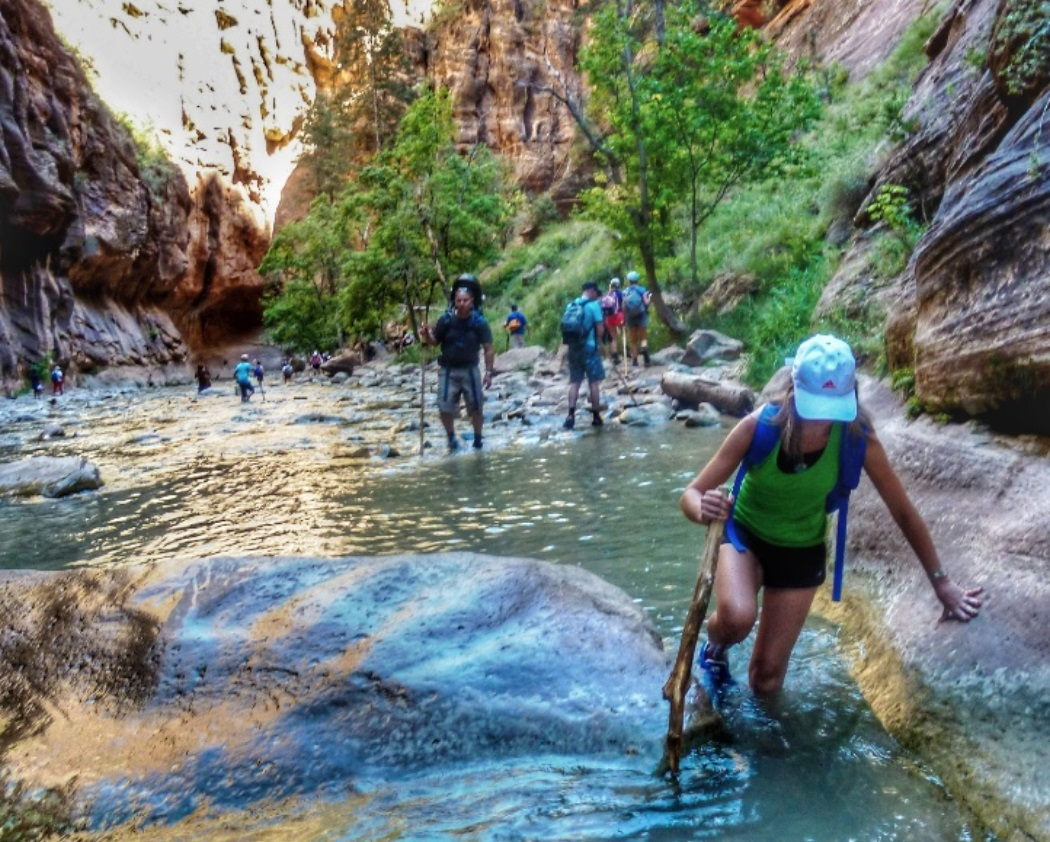 trekking narrows zion park