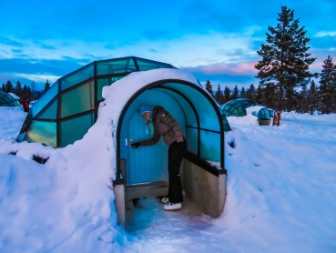 dormire in un igloo