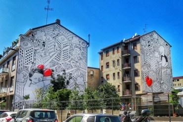 milano mappa street art