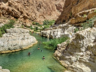 wadi shab e bimmah sinkhole in giornata