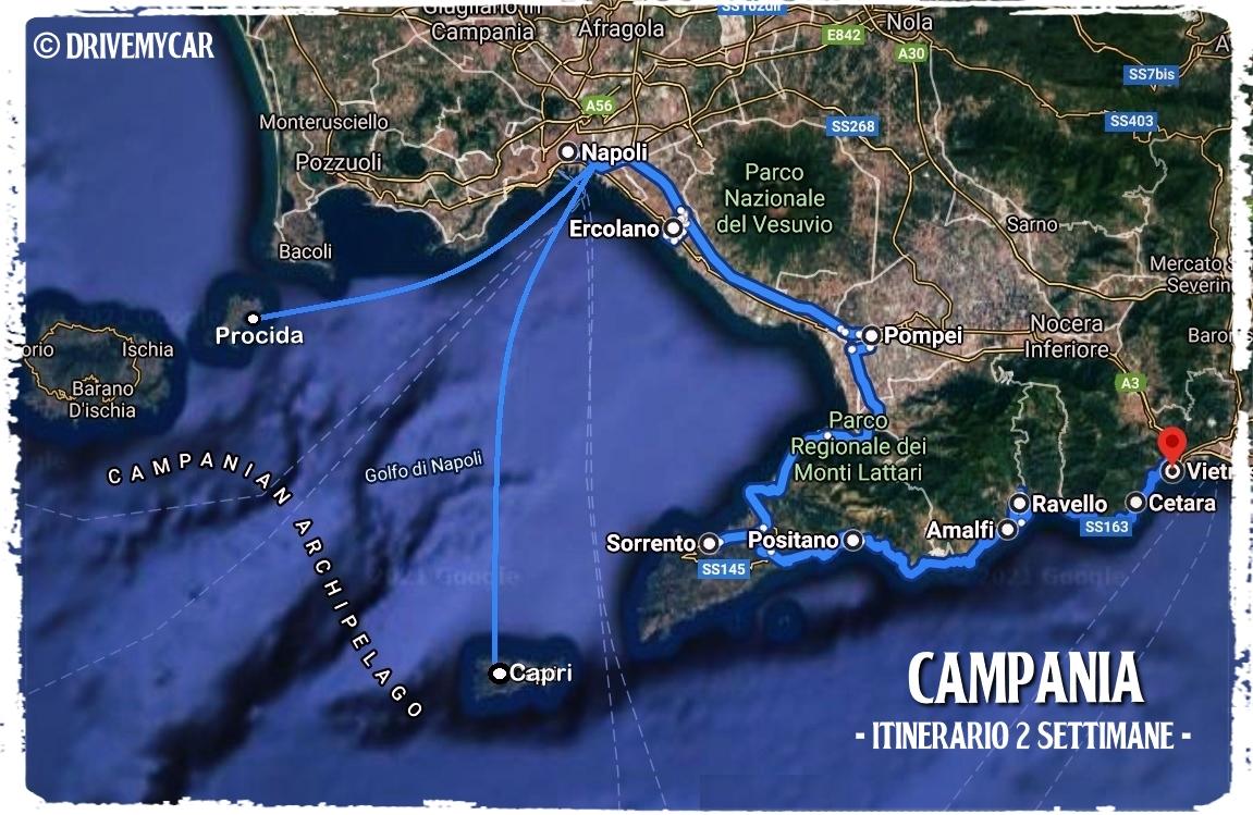 tour campania isole costiera