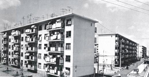 昭和45年に建設された大阪府営 清滝住宅