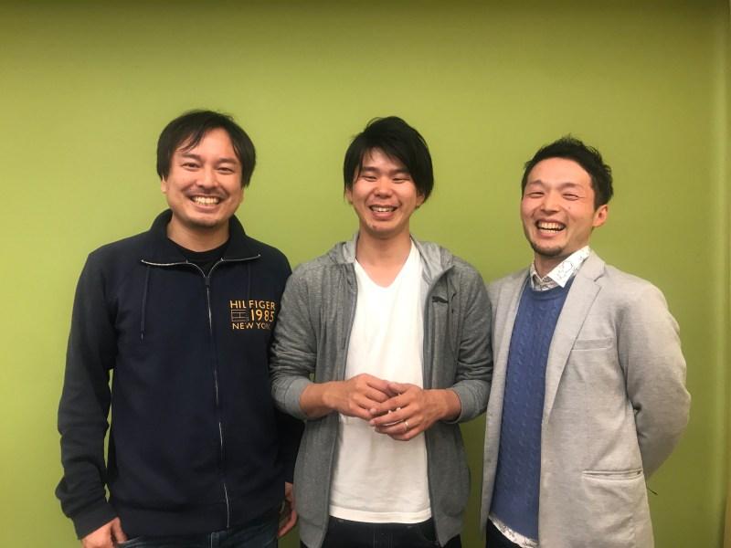 右から、チャリティサンタ清輔さん、つくばアグリチャレンジ伊藤さん、Chance For All中山さん
