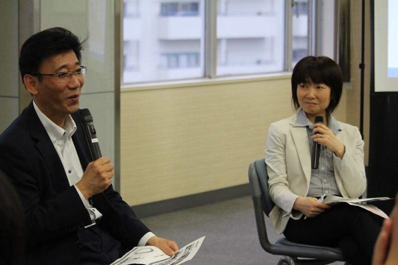 石山氏(右)とETIC.鈴木(左)