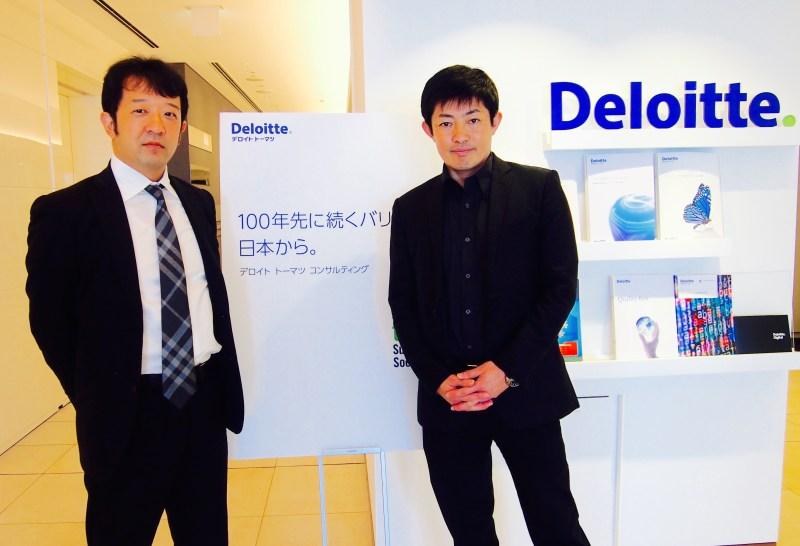 CSR ・SDGs推進室長、田瀬和夫氏(右)とシニアマネジャー、小國泰弘氏(左)