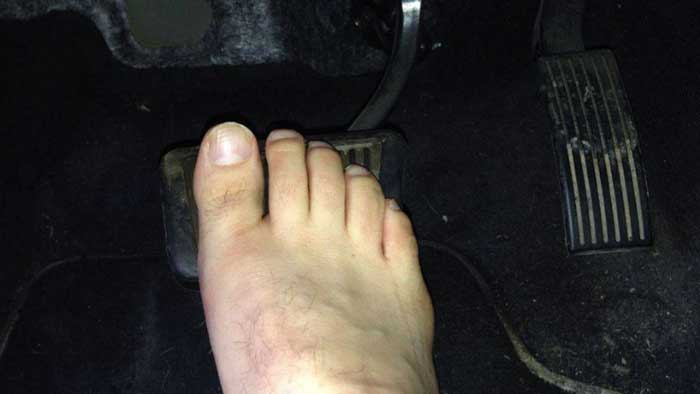 Why You Shouldn't Drive Without Shoes