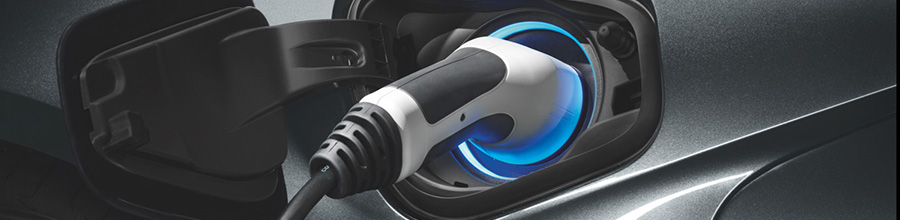 Close up of the electric plug of the BMW i8