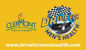 Clermont County and Drive for Men's Health logos