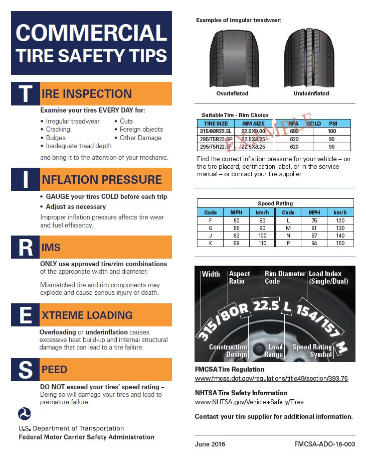 Truck Tire Safety Tips
