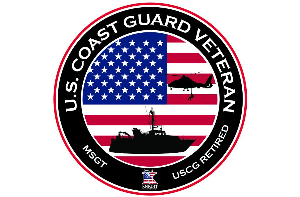 Coast Guard Veteran Circle Sticker without name