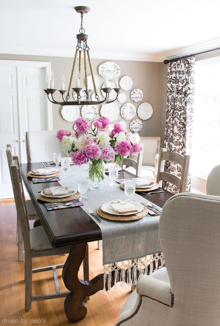 Summer Dining Table Decor Shades Of Summer Home Tour: Decorating With Summer Whites