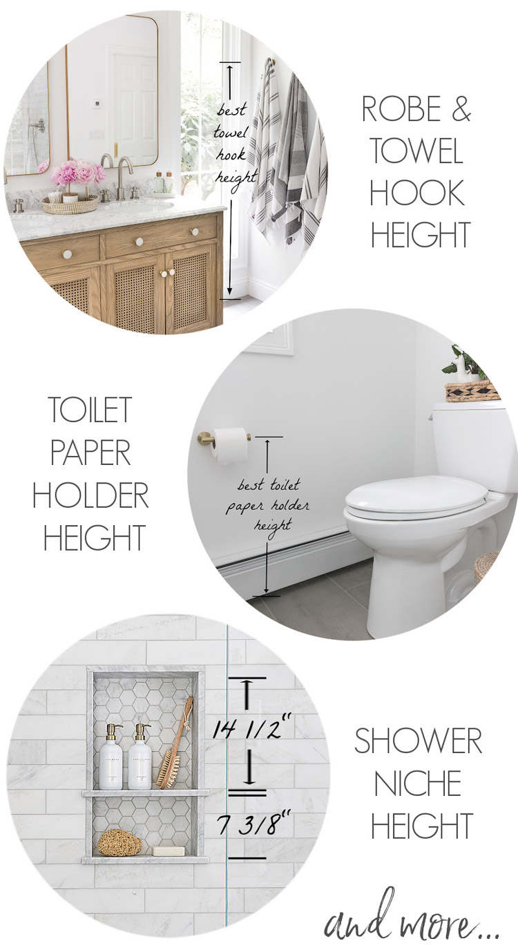 Toilet Paper Holder Mounting Height : toilet, paper, holder, mounting, height, Must-Have, Bathroom, Measurements, (Towel, Height,, Toilet, Paper, Holder, Height, More!), Driven, Decor