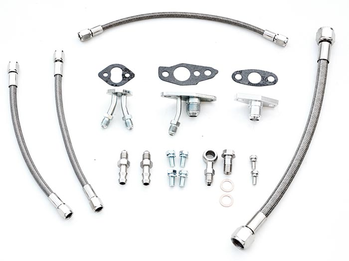 Turbo oil and water line kit Toyota Supra 7MGTE CT26