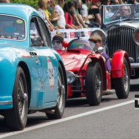 The finish line of the most beautiful road race; Mille Miglia