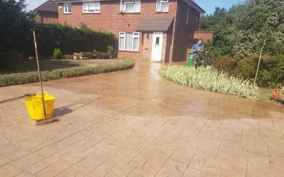Repair & Reseal Patterned Concrete in Slough
