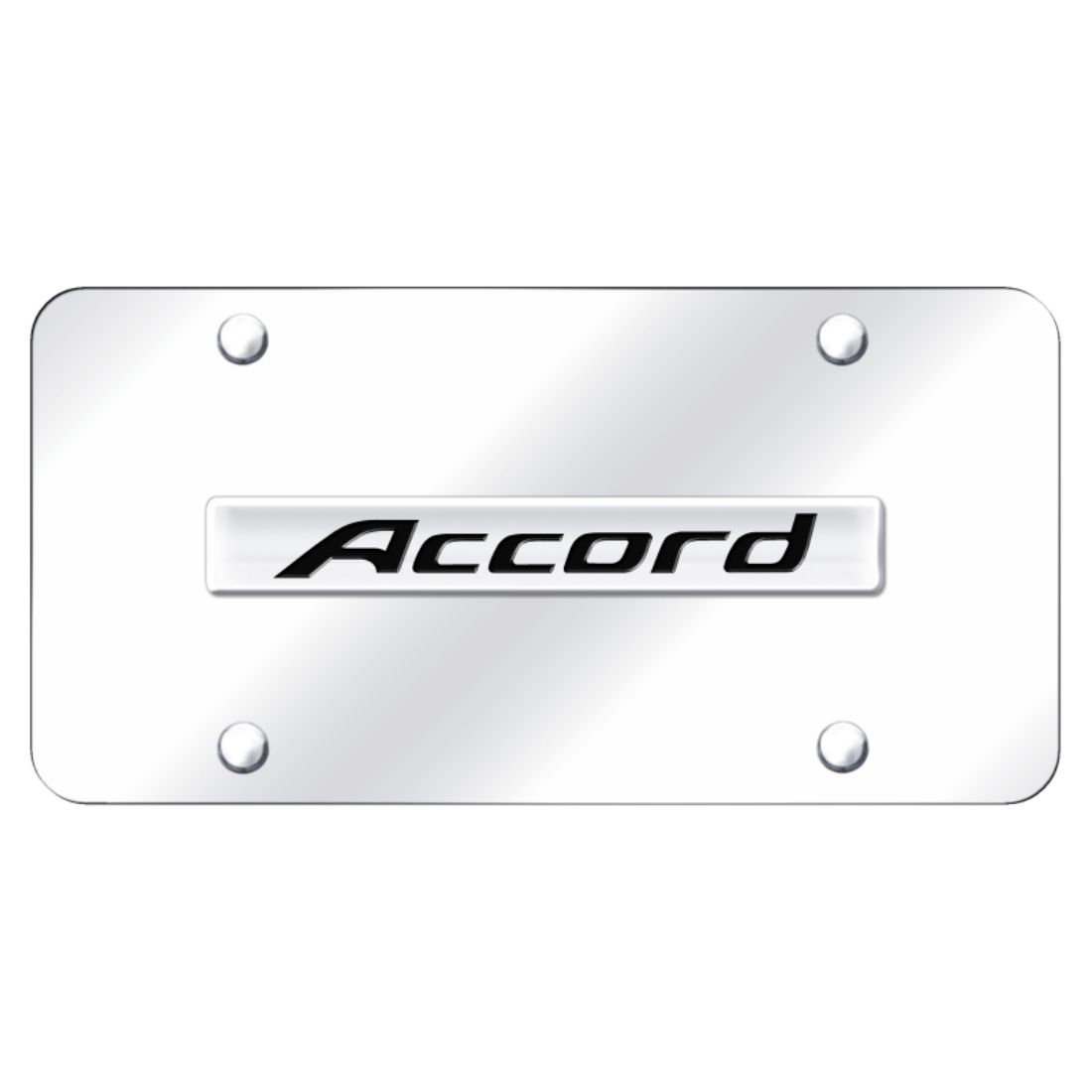 Honda Accord Chrome Stainless Steel License Plate