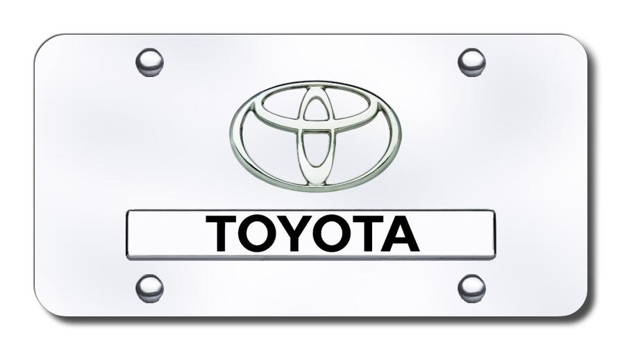 Toyota Logo Name on Chrome Stainless Steel Standard