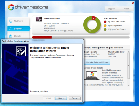 Windows 10 driver installation process