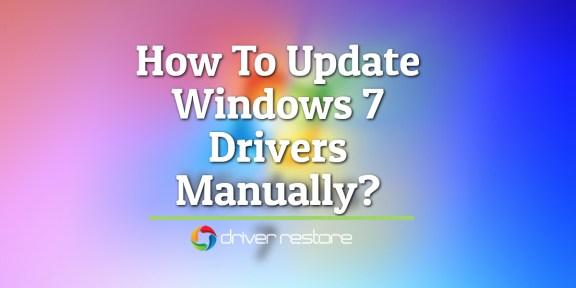 update drivers windows 7