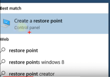 Create a System Restore Point
