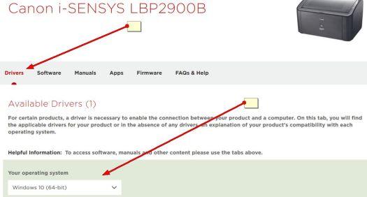 canon lbp2900b printer drivers download