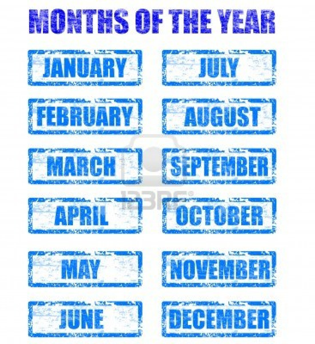 Free Printable Months Of The Year Chart
