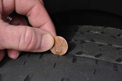 Penny test - photo by Mark Herreid