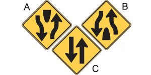 Mixed up road signs - driversprep.com
