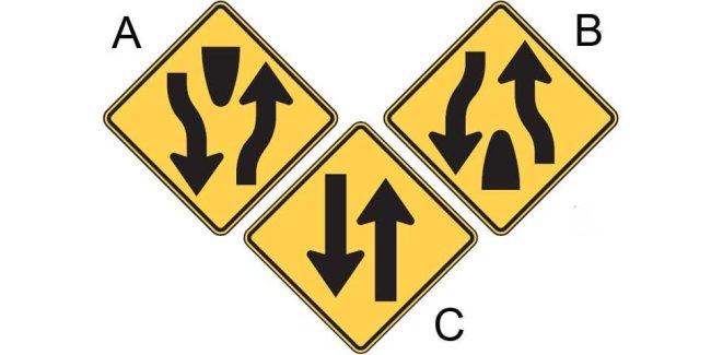 Mixed up road signs