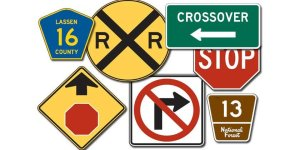 Basic shapes of road signs in United States - Driver's Prep