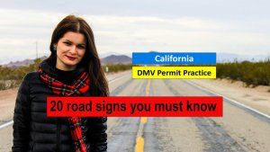 California DMV Test - 20 Road Signs You Must Know