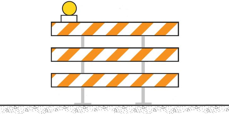 Barricade pass on the left