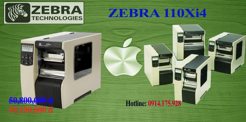 Máy in mã vạch zebra 110xi4