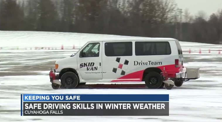 Cleveland Channel 19 News Features DriveTeam's Winter Skills Clinic