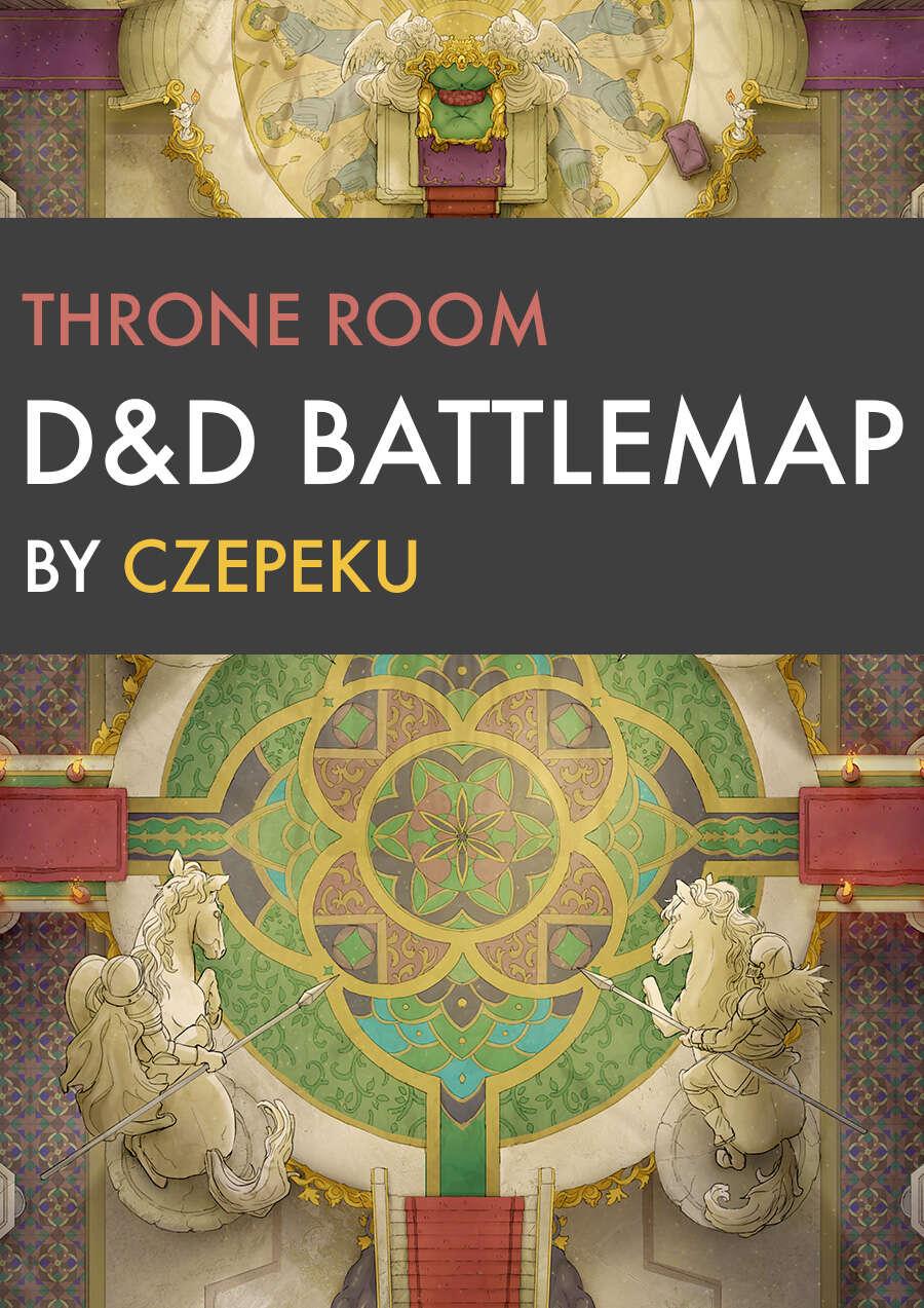 Throne Room D&d Map : throne, Throne, Battlemaps, Czepeku, DriveThruRPG.com