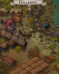 Gyllensyl Coastal Swamp Town Map LeLanglacier DriveThruRPG com