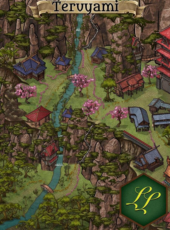 Mountain Town Map : mountain, Teruyami, Eastern, Mountain, LeLanglacier, DriveThruRPG.com