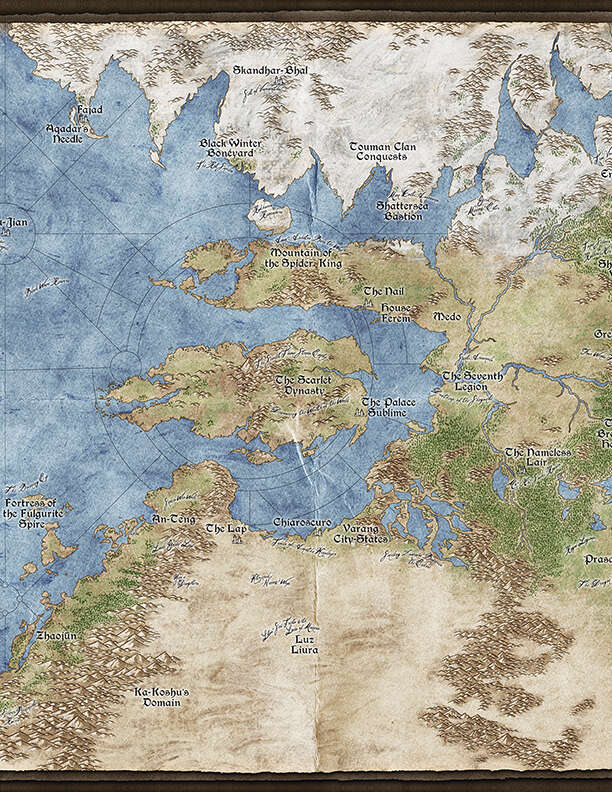 Exalted 3e Map : exalted, Lunars:, Fangs, Publishing, Exalted, Edition, DriveThruRPG.com