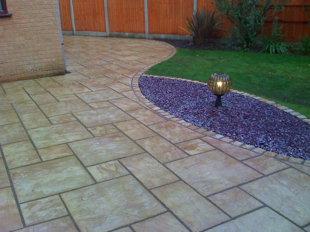 Natural stone path and feature