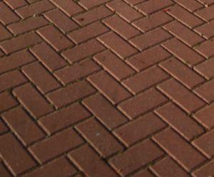 Block paving herringbone pattern close up