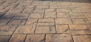 Modern Driveways Pattern Imprinted Concrete Ashlar Slate Pattern
