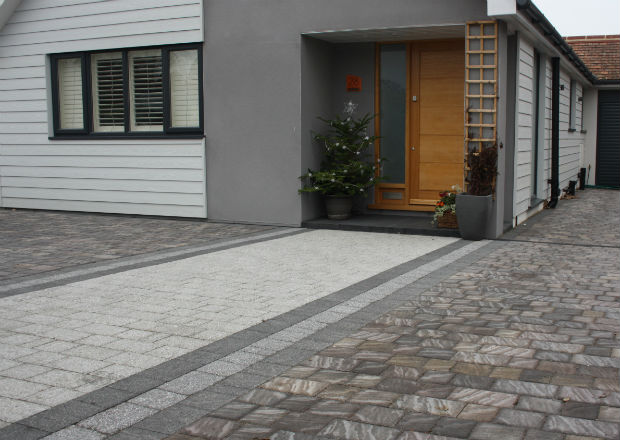 Block Paving Marshalls Drivesett Argent and Natrale Slate